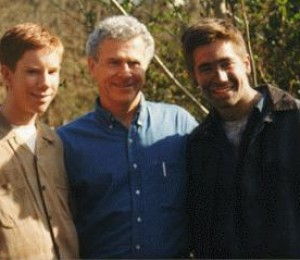 On Set: Chris Owen (Quentin Wilson), Homer Hickam, and Jake Gyllenhaal (Homer Hickam).