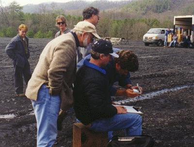 On Set: O'Dell Carroll supervises a rocket launch at Cape Coalwood.