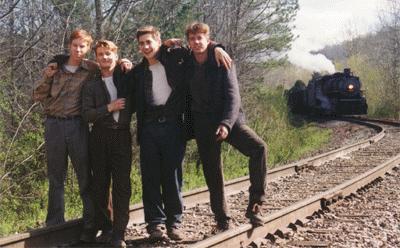 On Set: (L-R) Chris Owen, (Quentin), William Lee Scot (Roy Lee), Jake Gyllenhaal (Homer), Chad Lindberg (O'Dell)